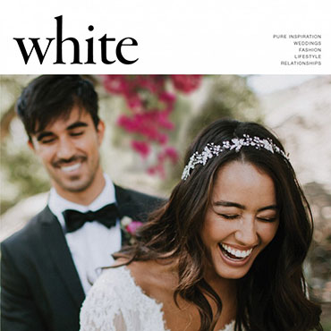 White magazine cover